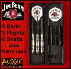 Licensed Collectible Jim Beam Darts Set - 6 shafts