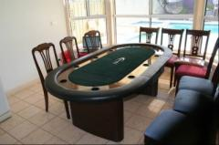 Poker table-7ft deluxe poker table with dinner top
