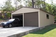 6m x 6m x 2.4m double garage
