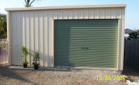 One door garage