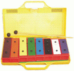 Chime Bars in Yellow Plastic Case