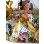 Deluxe Fruit, Wine & Chocolate Basket