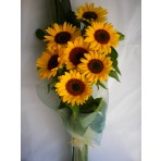 Sunny Sunshine Bouquet including Glass Vase