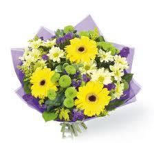 Orange Yellow and Purples Bouquet