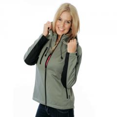 5429- Ladies Full Zip Swiss Softshell Jacket