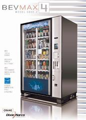 Dixie Narco BevMax 4 Drink Vending machine