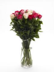 Long stem mixed rose bouquet