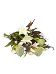 Tropical bouquet with orientals