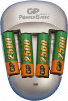 Battery charger, NiMH,c/w 4xAA NiMH, UK, euro, USA