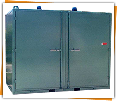 Drum heating ovens / rooms