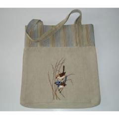 Blue wren shopper bag