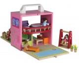 Wooden box set dolls house