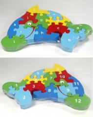 12 piece wooden Dolphin jigsaw