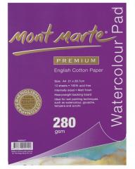 Mont Marte Cotton Paper Watercolour Pad 280gsm 12