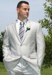Silver Pinstripe LW Suit