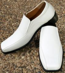 White Square Toe Shoe