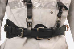 Leather tool belt with harness