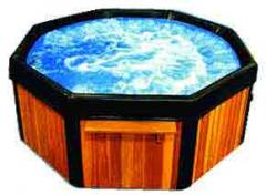 Spa Redwood, Model 6' WOOD SIDED SPA-N-A-BOX