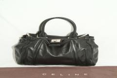Celine Large Black Leather Bag