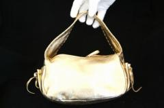 Prada Gold Leather Bag