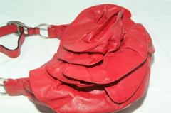 YSL - Fire Engine Red Leather Handbag