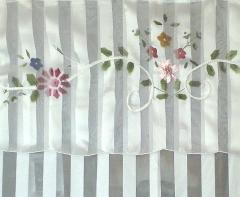 Floral ribbon shower curtain