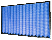 Washable V-Form Galvanised Frame Filter