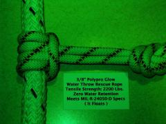 Poly Pro Glow Rescue Rope