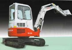 Excavators,  Model TakeuchiTB138FR