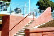 Balustrade, handrails, safety rails and platforms