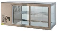 Straight glass counter top display