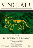 2010 Sauvignon Blanc Swallow Hill Wine