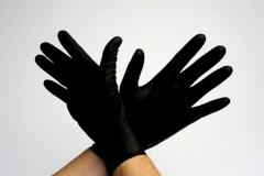 Gloves Large Black Latex 20 per box