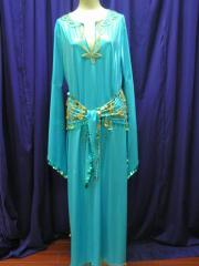 Lycra Saiidi Dress Turquoise