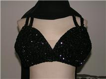 Sequin Bra Black