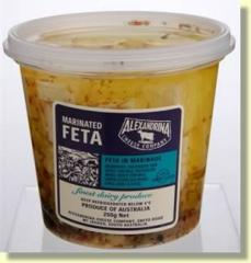 Marinated Feta, infused with chilli and garlic