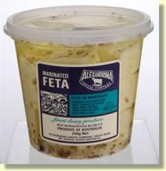 Marinated Feta, infused with mustard seed and garlic