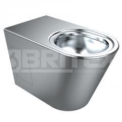 Britex Grandeur Stainless Steel Toilet Pan - WC