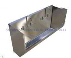 Britex Stainless Steel Surgeons Scrub Trough