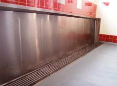 Britex Sanistep Stainless Steel Urinal - Hinged Grate Style