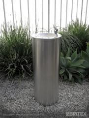 Britex Stainless Steel Round Pedestal Drinking Fountain