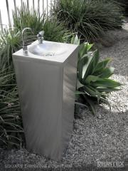Britex Stainless Steel Square Pedestal Drinking Fountain