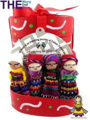 Worry Dolls in Box Handmade in Guatemala by Mayan Artisans