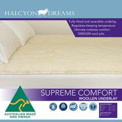 Quilt supreme comfort woollen underlay