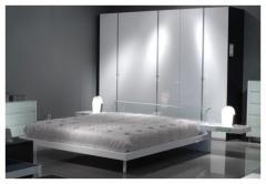 Vetro Bed Glossy White