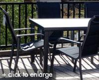 Bermuda Padded Outdoor Dining Setting