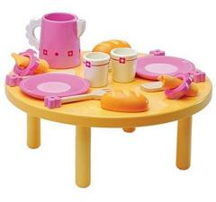 Toy, Djeco Wooden Lunch with Friends Set