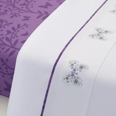 Butterfly Wonder Fitted & Flat Sheet Set