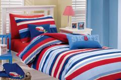 Fletcher Stripe Printed Quilt Cover