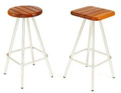 Timber and Stainless Steel Bar Stools